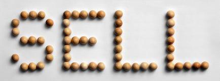 ` Di legno di vendita del ` di arte di parola della puntina fotografia stock libera da diritti