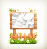 Di legno firmi dentro l'erba Fotografia Stock Libera da Diritti
