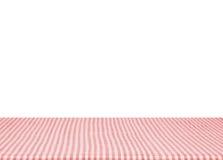 Di legno materiale della tovaglia rossa vuota isolato su backgroun bianco fotografia stock libera da diritti