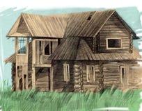 di legno nordico della casa Fotografie Stock Libere da Diritti