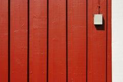 di legno rosso della casa Fotografie Stock
