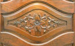 Di legno scolpisca della mobilia di laotiano fotografia stock
