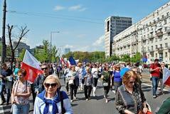 ` Di Liberty March del ` della tenuta dei gruppi dell'opposizione Immagini Stock Libere da Diritti