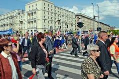 ` Di Liberty March del ` della tenuta dei gruppi dell'opposizione Fotografie Stock