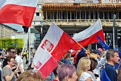 ` Di Liberty March del ` della tenuta dei gruppi dell'opposizione Immagine Stock