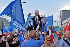 ` Di Liberty March del ` della tenuta dei gruppi dell'opposizione Fotografia Stock
