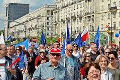 ` Di Liberty March del ` della tenuta dei gruppi dell'opposizione Fotografia Stock Libera da Diritti