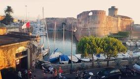 Di Livorno de Italia/del puerto Foto de archivo libre de regalías