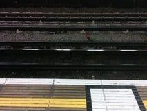 Di Londra piste nel sottosuolo Fotografia Stock Libera da Diritti