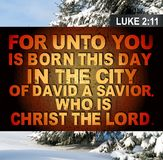 2:11 di Luke di Natale Fotografia Stock Libera da Diritti