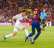Di Maria and Abidal Stock Image