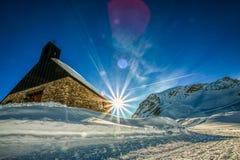 ` Di Maria Heimsuchung del ` della cappella all'più alta montagna dello zugspitze dentro Immagine Stock Libera da Diritti
