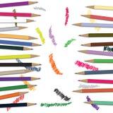 di matite colorate Multi con i disegni Illustrazione Vettoriale
