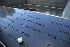 9/11 di memoriale a New York Fotografie Stock