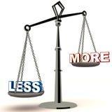 Di meno è più Immagini Stock Libere da Diritti