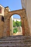 Di Mezzogiorno di Porta Genzano di Lucania L'Italia Fotografia Stock