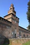 Di Milaan van Sforzesco van Castello stock afbeeldingen
