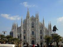 Di Milan de Duomo en quelques jours d'hiver image stock