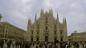 Di Milano del Duomo stock footage