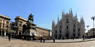 Di Milano del Duomo del cuadrado. Foto de archivo libre de regalías