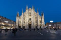 Di Milano del Duomo por la tarde Imagenes de archivo