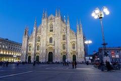 Di Milano del Duomo por la tarde Fotografía de archivo