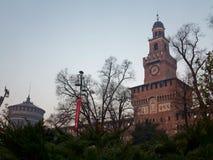 Di Milano di Castello Sforzesco Immagini Stock Libere da Diritti
