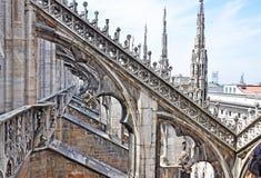 Di Milano - el tejado del Duomo Imágenes de archivo libres de regalías