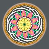 di modello d'annata orientale colorato Multi con gli elementi floreali di arabesque, mandala royalty illustrazione gratis