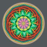 di modello d'annata orientale colorato Multi con gli elementi floreali di arabesque, mandala illustrazione vettoriale