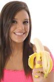 Di modello mangiando uno spuntino sano Fotografia Stock Libera da Diritti