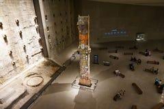 9/11 di museo commemorativo, ground zero, WTC Fotografie Stock