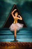 Di Music Box d'annata con la ballerina Immagini Stock Libere da Diritti