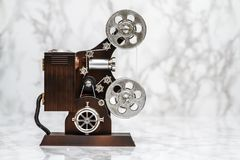 Di Music Box decorativo della cinepresa su bianco fotografia stock libera da diritti