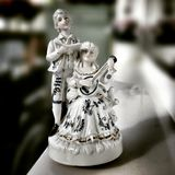Di Music Box della scultura Sguardo artistico nei colori vivi d'annata Fotografie Stock