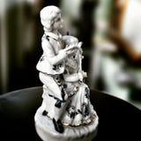Di Music Box della scultura Sguardo artistico nei colori vivi d'annata Immagine Stock
