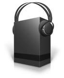 Di Music Box e cuffie Fotografia Stock