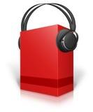 Di Music Box e cuffie Fotografia Stock Libera da Diritti