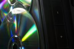 Di Music Box e del CD Fotografia Stock Libera da Diritti
