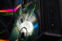 Di Music Box e del CD Fotografie Stock Libere da Diritti