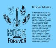 Di musica rock illustrazione di vettore della cartolina per sempre royalty illustrazione gratis