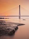 Di Nanchino ponte in secondo luogo il fiume Chang Jiang Immagini Stock