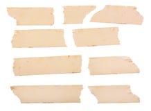 Di nastro di carta giallo d'annata Fotografia Stock Libera da Diritti