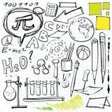 Di nuovo ai doodles del banco Fotografie Stock