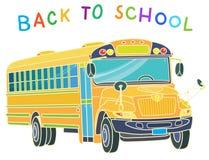 Di nuovo al banco Serie dello scuolabus - 1 Fotografie Stock Libere da Diritti