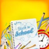 Di nuovo al concetto del modello della scuola ENV 10 Fotografia Stock