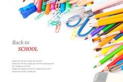 Di nuovo al concetto della scuola, cancelleria Immagine Stock Libera da Diritti