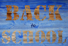 Di nuovo al fondo di legno della scuola Fotografia Stock Libera da Diritti