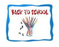 Di nuovo al fondo di logo di progettazione dell'immagine della scuola Fotografie Stock Libere da Diritti
