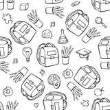 Di nuovo al modello senza cuciture di vettore della scuola Buon per progettazione del tessuto di tessuto, carta da imballaggio e  illustrazione di stock